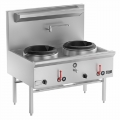 B+S Commercial Kitchens UFWWK-2  Two Hole Waterless Wok Table