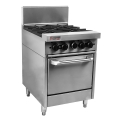 True Heat RCR6-4 4 Burner Range - 4 Open Burners, Oven Under