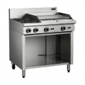 COBRA C9B 2 OPEN BURNERS & 600 GRIDDLE ON BASE